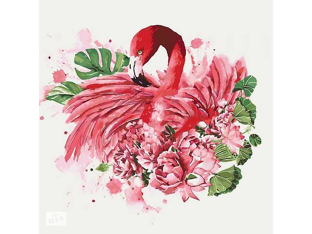 """Животные, птицы """"Грациозный фламинго"""" 40*40см KHO4042- объявление о продаже  в Одессе"""