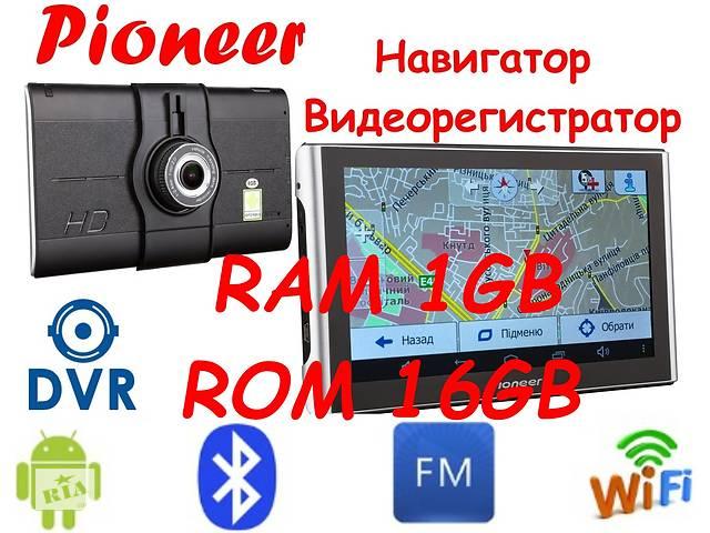 купить бу 1gb/16gb Gps Pioneer Pi700i (Pi750i) DVR PRO Навигатор видео регистратор Карты навигации 2019 года в Києві