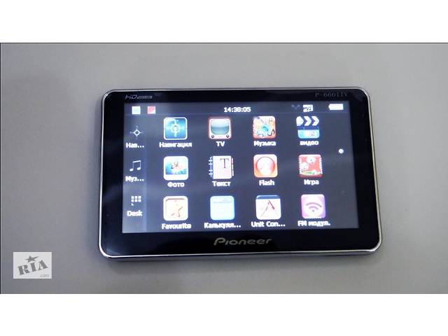 "купить бу 5"" GPS Навигатор Pioneer P-6601 TV с Телевизором в Одесі"