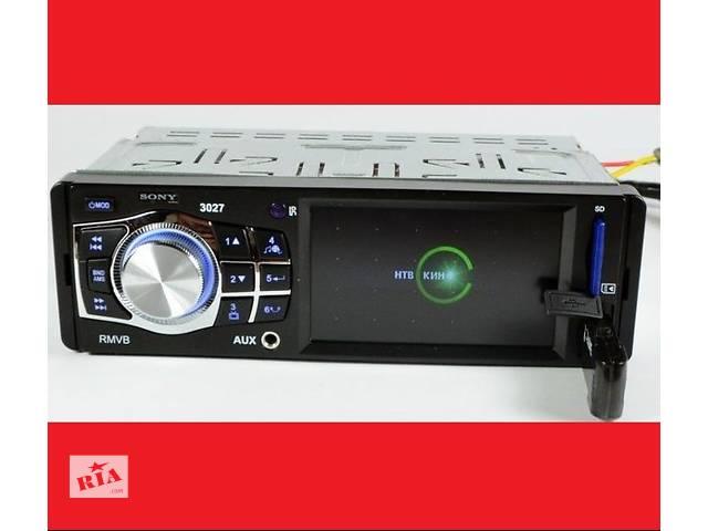 """Автомагнитола SONY 3027_экран 3,6""""_USB+SD+FM_сони- объявление о продаже  в Каменец-Подольском"""