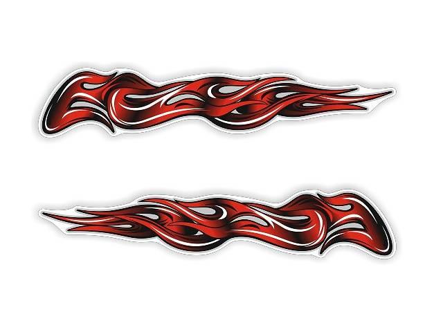 продам Наклейка вогонь (ціна вказана за 2 шт.) 36×6,5см бу в Луцке