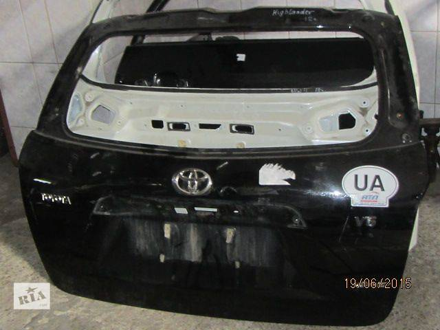 продам Б/у крышка багажника для кроссовера Toyota Highlander 2008 бу в Киеве