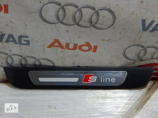 бу Б/У Накладка порога задняя левая S-Line AUDI A6 4G0853375 в Самборе