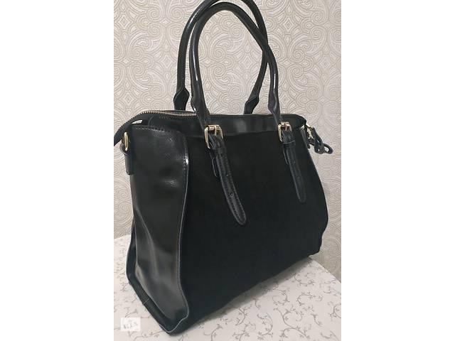 c78c1e108a32 купить бу Кожаная замшевая сумка, натуральная замша и кожа, коллекция осень  2018 зима 2019