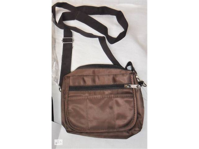 купить бу Новая сумка на плечо пояс бананка барсетка подарок черная коричневая в Херсоне