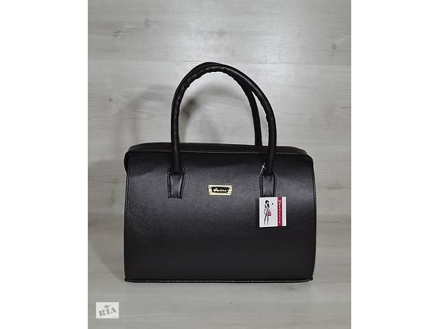 Каркасная женская сумка Саквояж черный матовый - Сумки, кошельки в ... 7570f22b124
