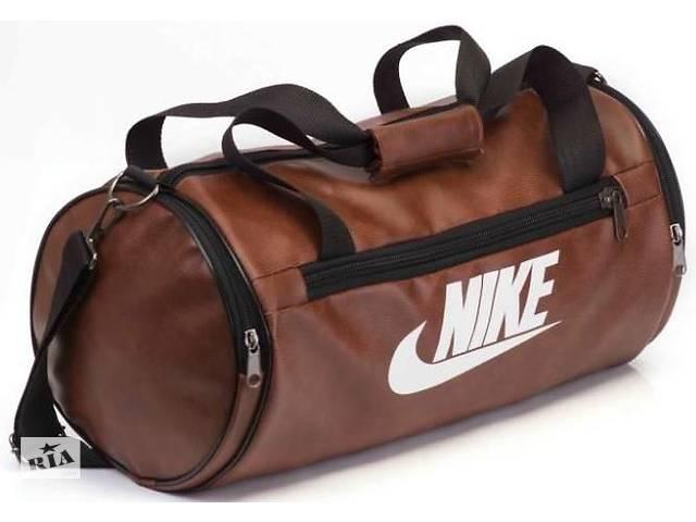бу Спортивна сумка Nike, шкіряна сумка бочка, сумка для тренувань, міська сумка, чоловіча сумка в Харкові