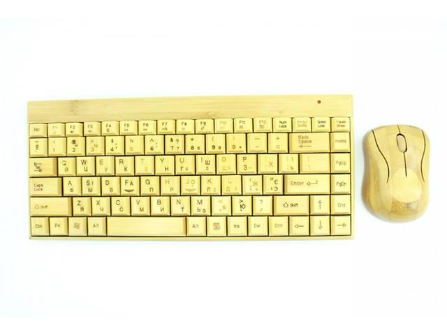 продам Бамбуковая клавиатура и мышка безпроводная    бу в Киеве