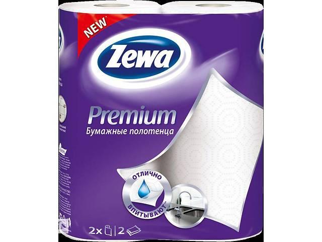 купить бу Паперові рушники Zewa Premium 2-слойні Білі 2 шт (7322540661705) в Києві