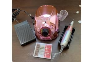 Фрезер профессиональный для маникюра и педикюра DM-212 Chrom (зеркальный розовый), 65 Вт, 35000 об/мин.