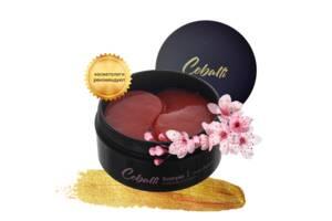 Патчи под глаза корейские с экстрактом цветущей вишни и золотом 24К Cobalti Cherry Blossom 60 шт (90 г)