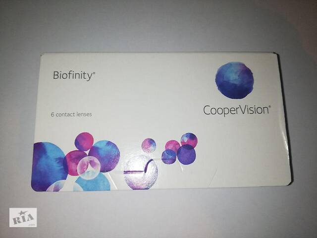Контактные линзы Biofinity (CooperVision) - 6шт