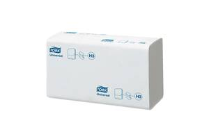 Листовые полотенца TORK Singlefold сложение V, Z мягкие (Universal) белые, 300 шт,1 слой