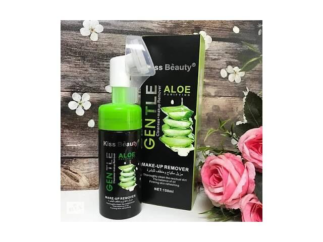 бу Пенка для умывания успокаивающая и очищающая Gentle Kiss Beauty Aloe со щеточкой 150 мл SKL11-276531 в Киеве