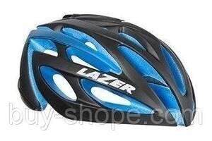 Шлем Lazer O2 DLX Чёрно-синий EPS (+Led + Чохол + Замок) (M/L, 55-6см 280г)