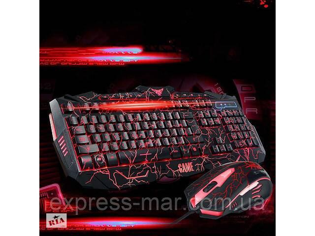 продам Стильная игровая клавиатура V-100 и мышка с подсветкой бу в Харькове