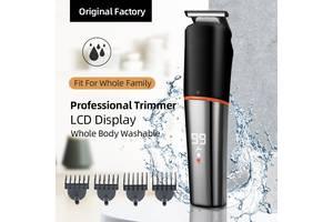 Триммер профессиональный 4D Shaver LED Grooming Kit водонепроницаемый IPX6