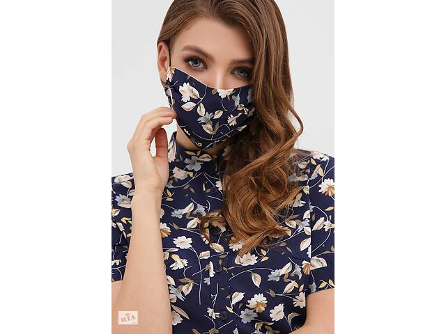 Защитная маска с цветочным принтом