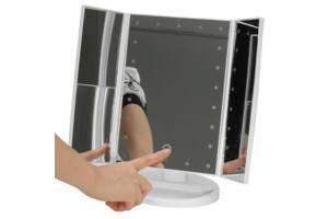 Дзеркало з підсвічуванням потрійне Supestar Magnifying Mirror
