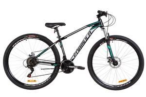 """Велосипед 29"""" Formula DRAGONFLY AM 14G DD St 2019 (черно-бирюзовый (м))"""