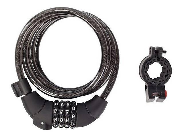 купить бу Кодовый замок Green Cycle GLK-189, Черный+ крепление (в силиконовой обойме 8x150см) в Харкові