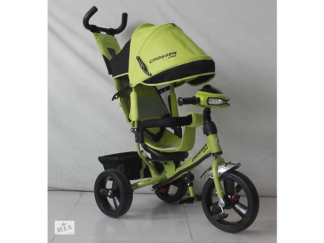 Трехколесный велосипед Crosser One T1 фара (EVA колеса),зеленый***- объявление о продаже  в Одессе