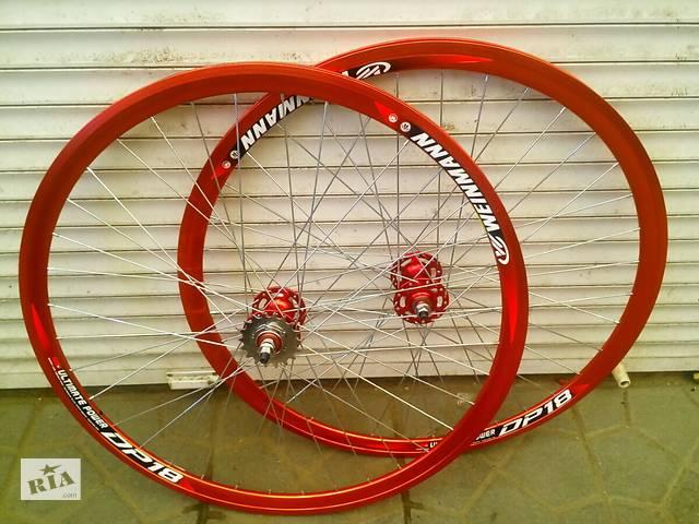 купить бу Вело колеса 28 дюймів подвійний обід фікс в Харкові