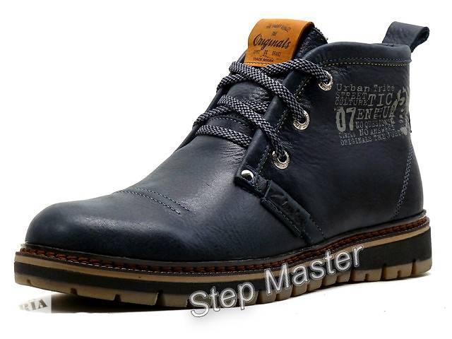 купить бу Ботинки кожаные мужские Clarks Urban Tribe синие в Вознесенске