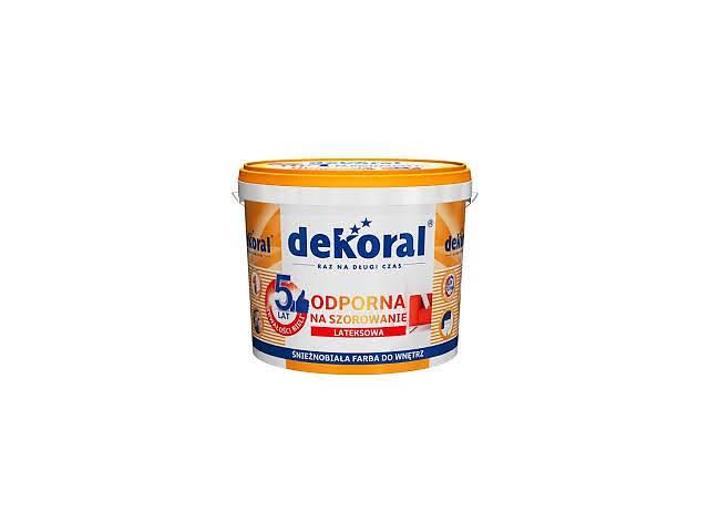 купить бу Dekoral akrylit W Декорал Акриліт W 10л моющаяся латексная краска в Львове