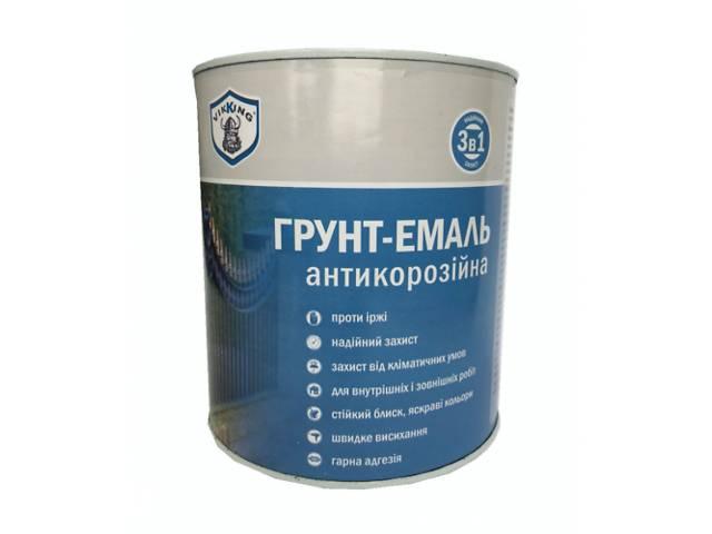 купить бу Эмаль антикоррозионная VIKKING 3 в 1 Светло-серая 0.9 кг (27534) в Киеве