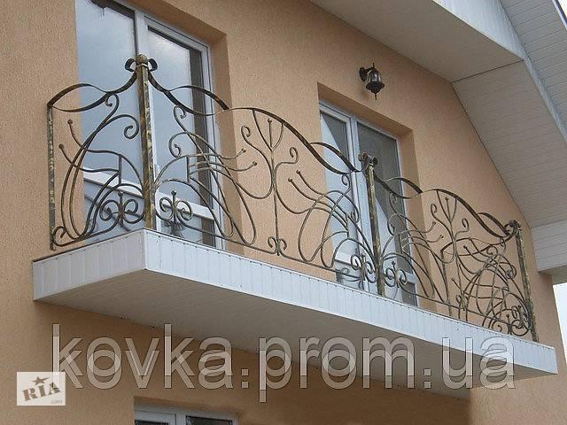 купить бу Кованое балконное ограждение в Ладыжине