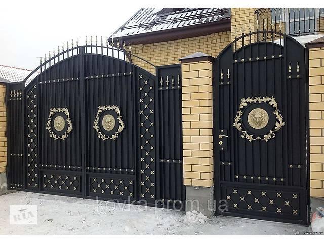 продам Металлические распашные въездные ворота с калиткой, код: К-0122 бу в Ладыжине