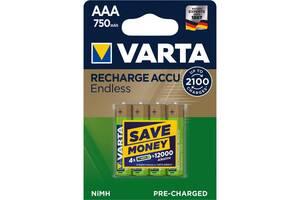 Аккумулятор Varta AAA Rechargeable Accu 750mAh * 4 (56673101404)