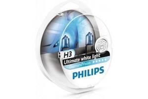 Автолампа PHILIPS H3 Diamond Vision 5000K, 2шт/блистер (12336DVS2)