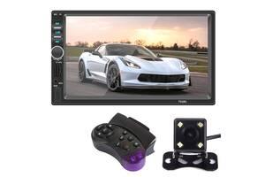 Автомагнитола Lesko 7018G GPS 2 DIN короткая с 7 дюймовым сенсорным экраном+камера заднего хода+пульт на руль