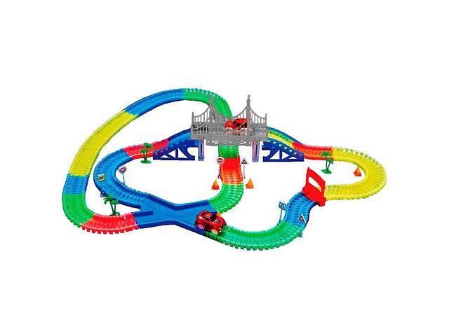 Детская светящаяся игрушечная дорога Supretto Magic Tracks 360 предметов с 2 машинками (5486)- объявление о продаже  в Одесі