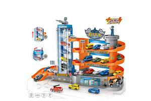Дитячий ігровий гараж-паркінг WinTec E 7003 4 етажа з ліфтом