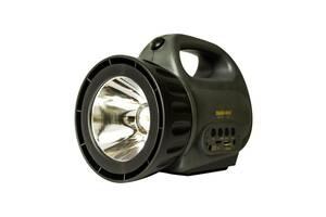 Мощный светодиодный аккумуляторный фонарь прожектор ZUKE 2181 переносной фонарь для охраны
