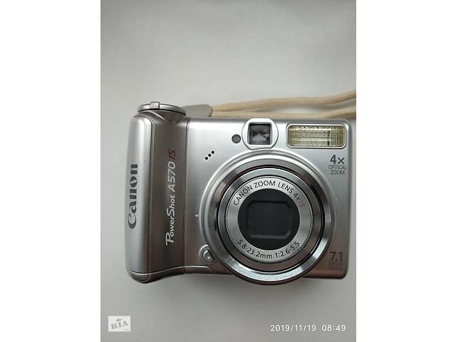 продам Фотоаппарат Canon PowerShot A570 IS и зарядное для акумулятора Twirl2 бу в Виннице