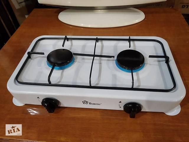 бу Газовая плита таганок настольная Domotec MS 6662 на 2 конфорки в Мариуполе