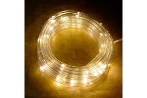 Гирлянда светодиодная USB шнур дюралайт Xmas Pipe 7298 100 LED WW-3 10 м Желтый свет (gr_015155)
