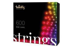 Гирлянда Twinkly Smart LED Strings RGB 600, BT + WiFi, Gen II, IP44 кабель че (TWS600STP-BEU)
