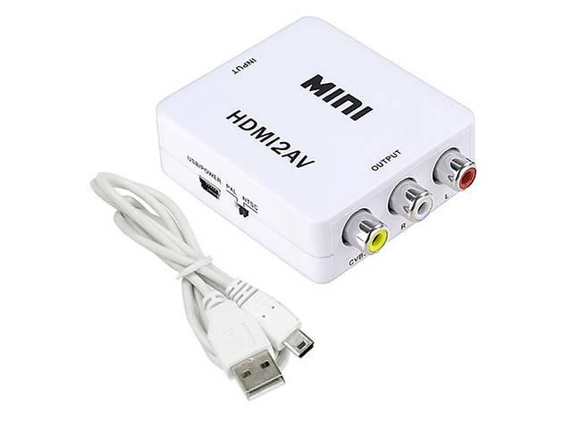 HDMI - AV RCA конвертер видео, аудио, белый- объявление о продаже  в Харькове