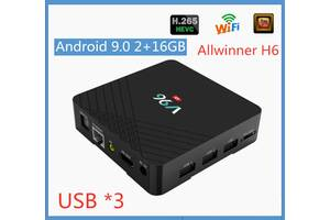 IPTV Smart Box Anroid TV ТВ приставка V96 (H6), 2/16 Гб, 9 Android