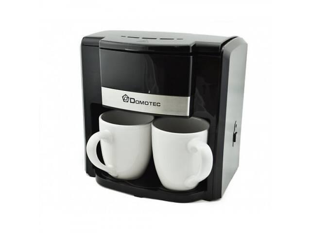 бу Крапельна кавоварка DOMOTEC MS-0708 500 Вт в наборі з 2 чашками чорна в Харкові