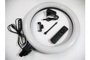 Кольцевая LED лампа AL-390 39см 220V 1 крепл.тел. + пульт