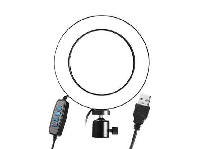 бу Кольцевая LED лампа для селфи 12Вт с USB 26 см (gr_010133) в Києві