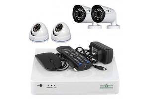 Комплект видеонаблюдения GreenVision GV-K-S17/04 1080P (6660)