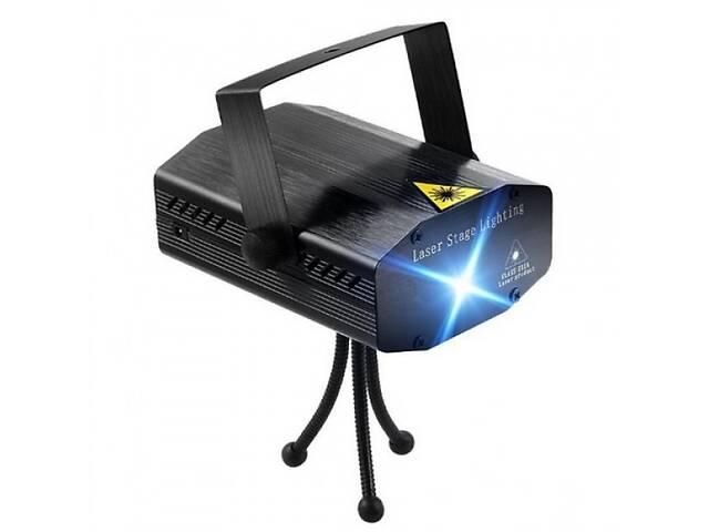 бу Лазерный проектор, стробоскоп, диско лазер HJ08 4 в 1 UKC Лазерная установка цветомузыки с треногой Black (46814-IM) в Киеве