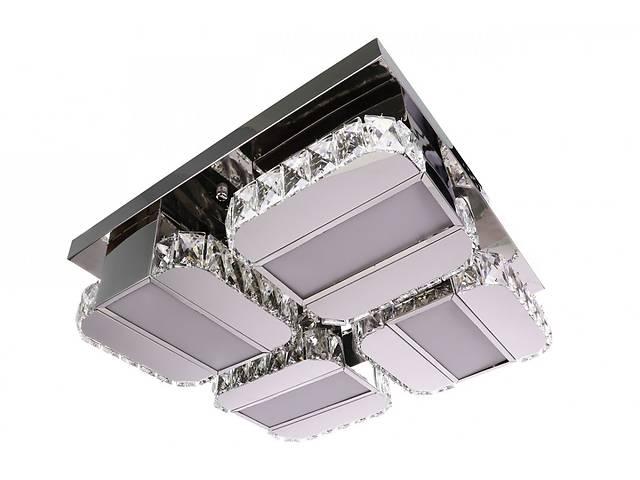 продам Люстра потолочная хрустальная Led с пультом C2060/500 Хром 15х48х48 см. бу в Одессе